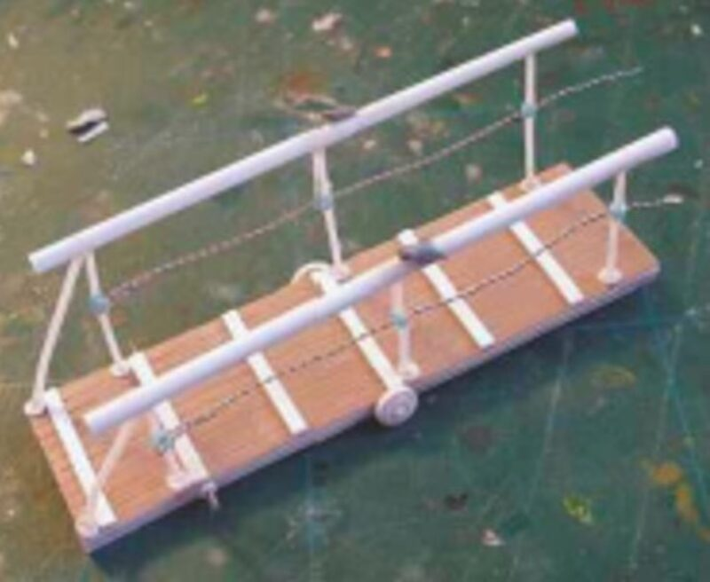 The completed gangplank.