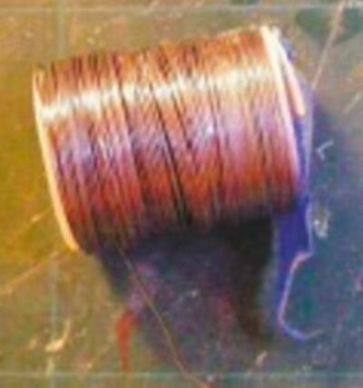 The craft wire used to make the wire 'ropes' on the gangplank.