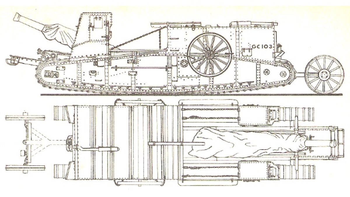 British Gun Carrier mrk 1 a